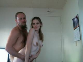 Good looking couple!  You seem pretty well matched.  (She's got amazing nipples, btw.....)