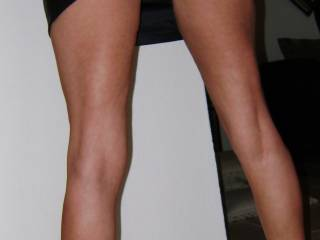 such a tease you are! i do have to say that you really don't need those heels with such nice l-o-n-g legs :-)