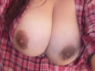 Omg so beautiful and big tits...would love to grab and squeeze them...