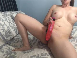 Right before I fucked my pussy with my big toy!