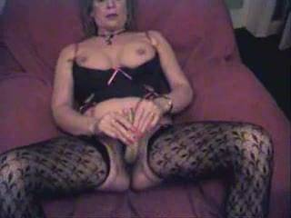 Damn she is hot! Love that beautiful hairy pussy and those sexy stockings! Just had to cum!