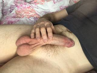 Morning tease of my hard cock 😉