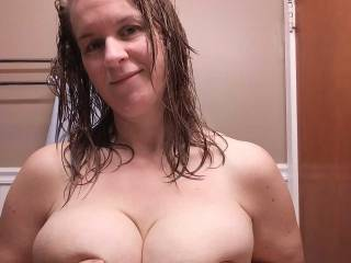 feeling sexy after a shower