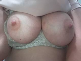 These are the most beautiful tits I've ever seen! Not only are they big and beautiful but they are firm and tough! Kiki loves her some rough titty play!