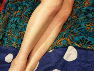My beautiful Wifes lovely legs and feet
