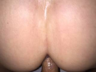 She loves it from behind, pussy starting to cream