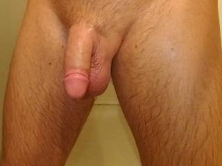 """Everyday hanging out at 6""""x5"""" flaccid 8""""x6.5"""" erect"""