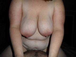 Magnificent big luscious tits!  Luv watching them bounce so erotically while she rides that big hard cock sucking my hot rod all of us cumming together Val cums all over your hot cock as you creampie her pussy and my hot load explodes all over her big beauties!!!!