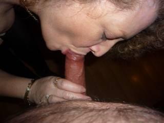 Enjoying sucking my husbands cock !!!
