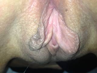 Mmmmmm her sweet, wet pussy looks mouth watering delicious!!  Oh how I would love to lic, eat, savor, devour and fuck her hot pussy...yummy!!