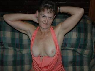 I could suck on your luscious tits, all night long!