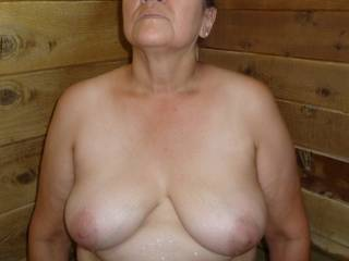 my mature tits for you to suck on and titty fuck me