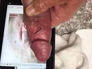 Cuming on a friends beautiful clit