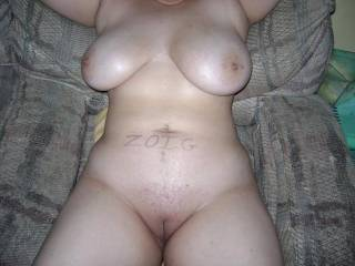My gawd you're hot, great tits, and a slick lickable pussy...mmmm