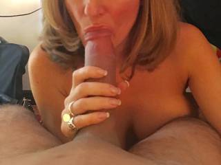"Wife enjoying a full 9"" playmate in a hot 3 x"