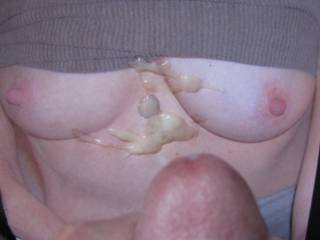 Exquisite Sexy Tits getting covered with hot thick cum