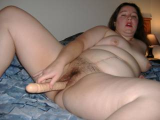 Your wife has an amazing body, her saggy tits, big natural belly and lovely hairy cunt are all such a turn on , she is fantastic