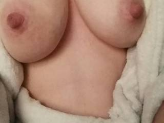 WOW!  Look at those amazing nipples.  I just want to wrap my lips around them.