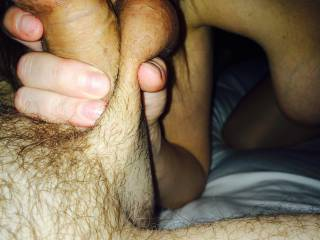 I love that grip! So nice to grab both the cock and balls!