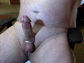 My cock before masturbating.