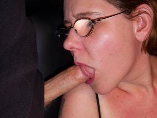 Hmmm my supper is served.....I just love sucking his cock