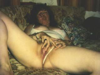 Horny wife cumming for me