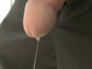 Well everytime I get horny I always have an INSANE amount of precum, normally its enough that I can use it for lube ;)  Is that enough for ya?