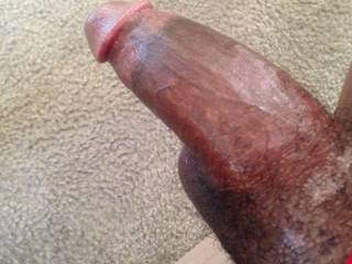 A half hard BBC feels great in your mouth, especially as it gets harder and harder slowly invading your throat.