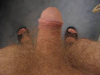 Mmmmm very tasty looking cock and I love a hairy man.
