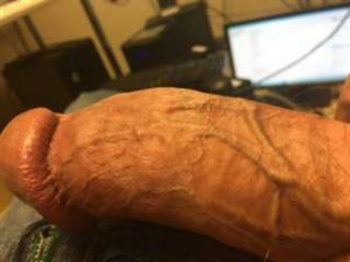 Imagine your pussy wrapped wide around my thick shaft