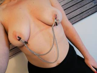 My nipples are so sensitive these clamps feel great