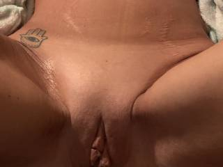 Freshly shaved and ready for some cock!