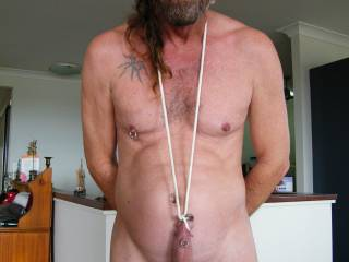 love ur cock piercings and the cock neck support nice job