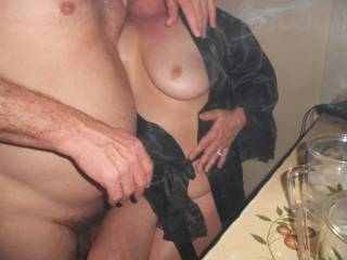 this lady is so hot and glad hubby let us play