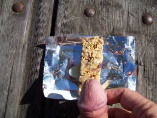 I'll share my granola bar with you if you go on a naked hike with me.