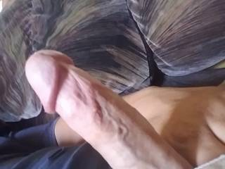Playing with my dick on the couch today