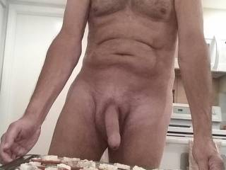 Chief cock and bottle washer here. We are having people over for dinner  tonight.  Hope they taste good  ;)