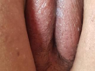 Beautiful puffed pussy