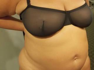 My husband bought this new bra..  He wants me to wear this with just a jack. What do u think?