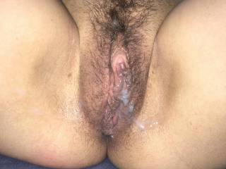 I just filled her slut pussy, who's next??