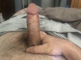 Got my dick out waiting on her to come in the bedroom. It's hard and waiting and ready. Bring me that redheaded pussy girl.