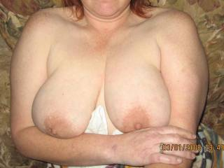 I bet you love shooting cum all over her big natural 38D tits just as much.