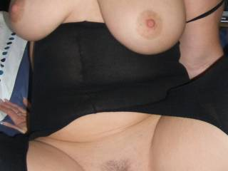 wow, hot tits and a sweet pussy - made for my cum! Do you want it??!