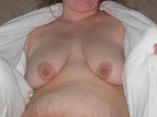 Gorgeous pair of tits your tits are making my cock dribble cum