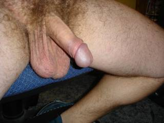 LOVE those big, hairy balls!  I'd suck you all day and all night.  Very nice!