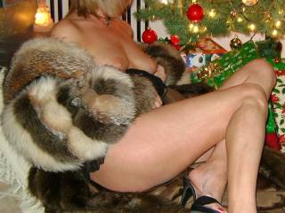 Oh no sweetheart....allow me. The pleasure will be all mine....to start with.  I love a delicious naked wife in a fur coat.  G