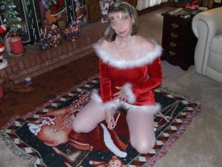I'd like to suck on the candy cane afterward and lick the sweet juices from your wonderful pussy.