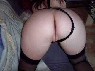 Wow amazing pic, panties to the side revealing your perfect ass and pussy !!!
