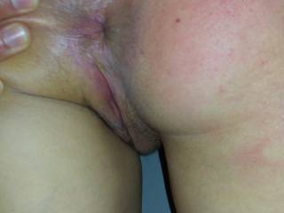 Kenny stretching my ass as he spanks me - I\'d love someone to tongue my tight hole and finger my pussy