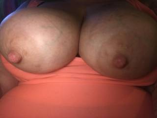 "Sexy talk w an online friend. He wanted me to take a close up of my ""beautiful nipples""."